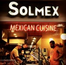 SOLMEX タコス メキシカン ネオン管