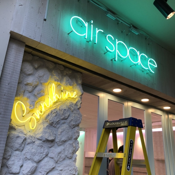 横浜 元町 air space ネオン管