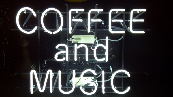 喫茶店 オリジナルネオンサイン 白